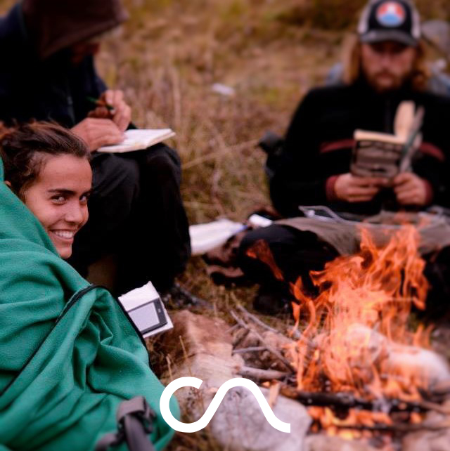 study around the fire (CA YIP newsletter pic)