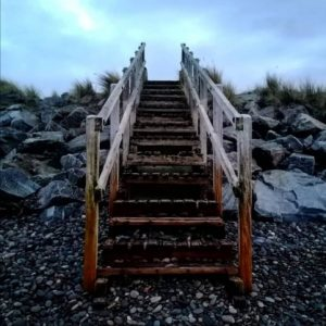 Stairs from Beach to Heaven